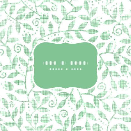 Blätter und wirbelt Textilrahmen nahtlose Muster Hintergrund Standard-Bild - 30853021