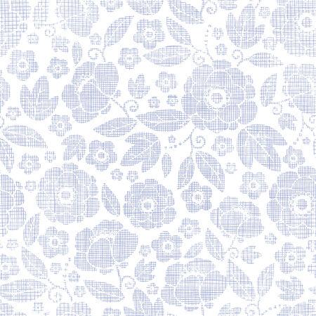 Purple textile flowers texture seamless pattern background photo