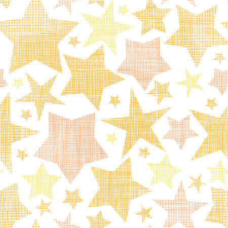 Golden stars textile textured seamless pattern background