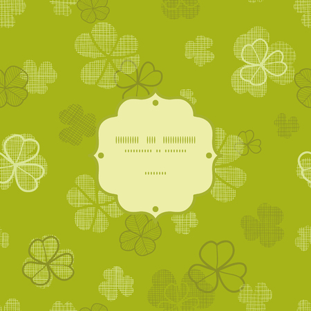 green clover textile texture frame seamless pattern background