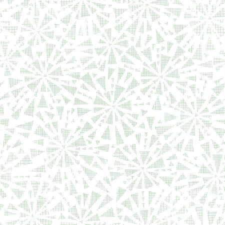 green abstract triangles textile texture seamless pattern background Vector