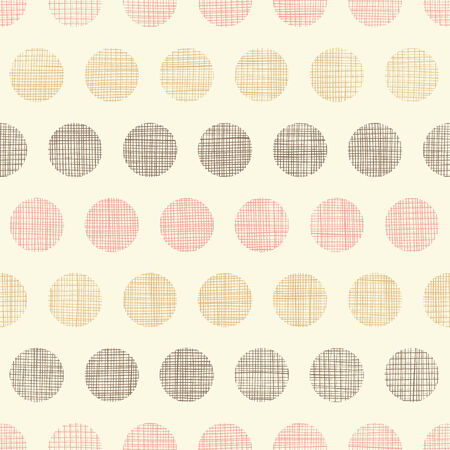 Vintage textile polka dots seamless pattern background Vector