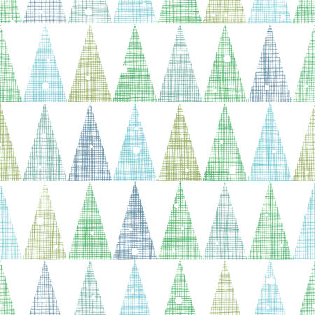 Abstract Christmas trees forest in snow seamless pattern background