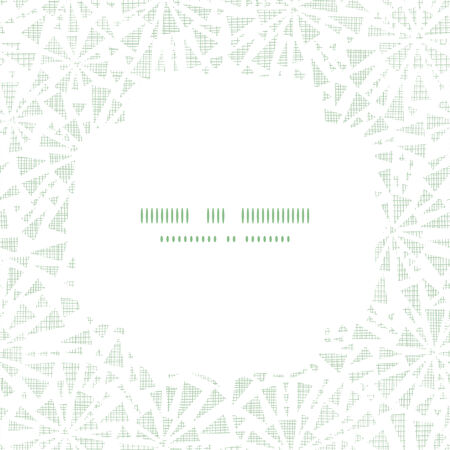 edges: green abstract triangles textile texture frame square pattern background