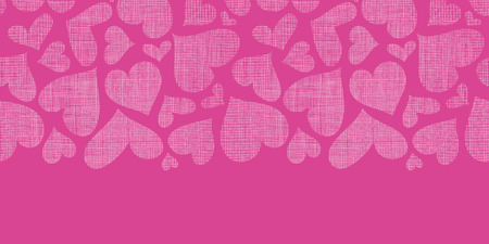Pink lace hearts textile texture horizontal seamless pattern background