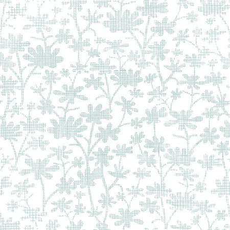 bush mesh: vector abstract gray bush leaves textile seamless pattern background Illustration