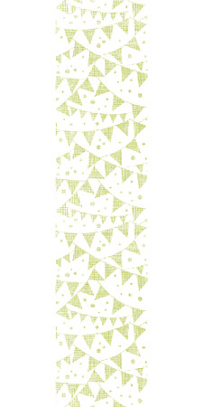 Green Textile Party Bunting Vertical Seamless Pattern Background Vector