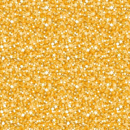 vector golden shiny glitter texture seamless pattern background Illustration