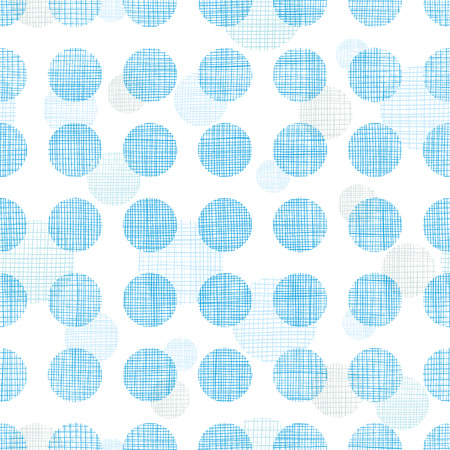 Abstract textile blue polka dots stripes seamless pattern background Vector