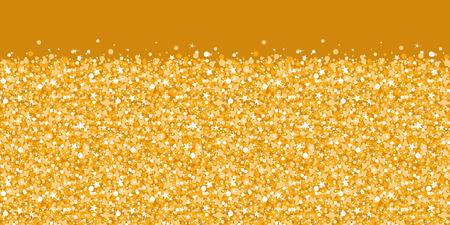 Vector golden shiny glitter texture horizontal border seamless pattern background