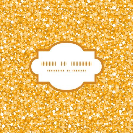 Vector golden shiny glitter texture frame seamless pattern background Illusztráció