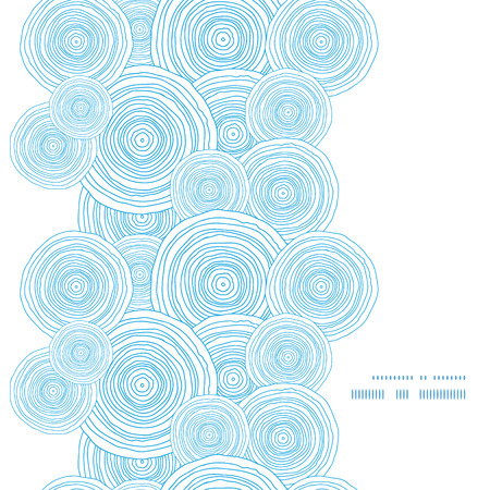 doodle circle water texture vertical frame seamless pattern background Illustration