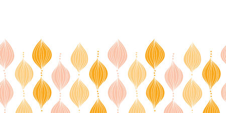 Vector abstract golden ogee horizontal border seamless pattern background Ilustração