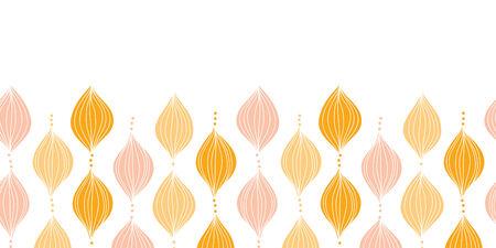 Vector abstract golden ogee horizontal border seamless pattern background Vettoriali