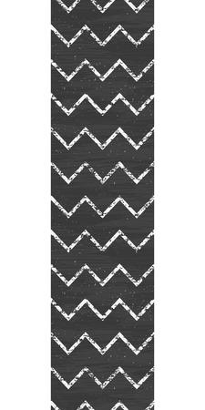 Vector chalk chevron blackboard vertical border seamless pattern background Vector