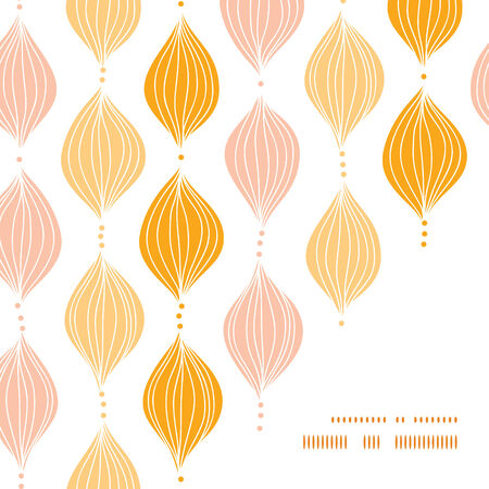 Vector abstract golden ogee frame corner pattern background  イラスト・ベクター素材