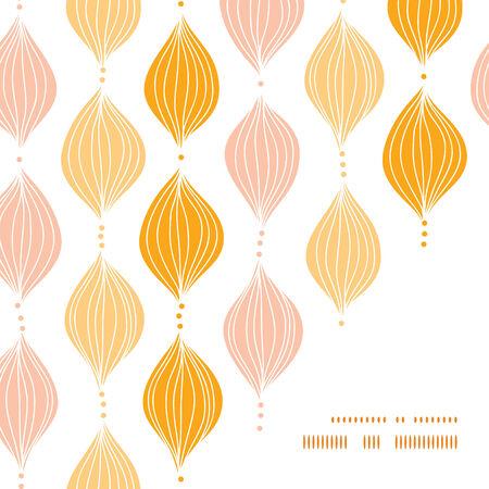 Vector abstract golden ogee frame corner pattern background Vettoriali