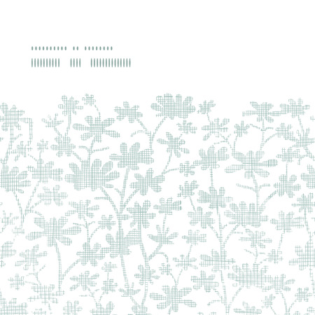 bush mesh: Vector abstract gray bush leaves textile horizontal frame seamless pattern background