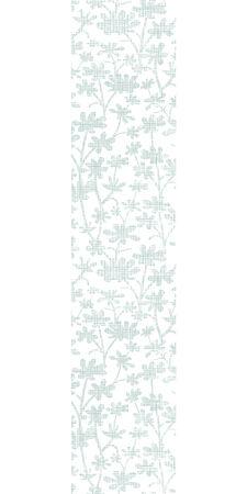 bush mesh: Vector abstract gray bush leaves textile vertical border seamless pattern background