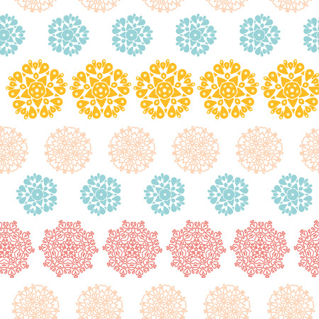 Abstract decorative circles stars striped seamless pattern background Vector