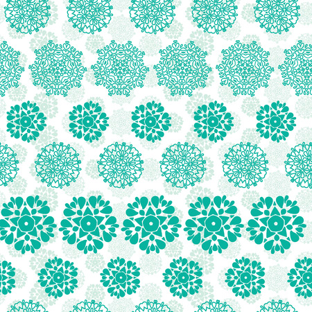 wheal: Abstract green decorative circles stars striped seamless pattern background Illustration