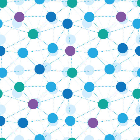 Connected dots seamless pattern background Vector