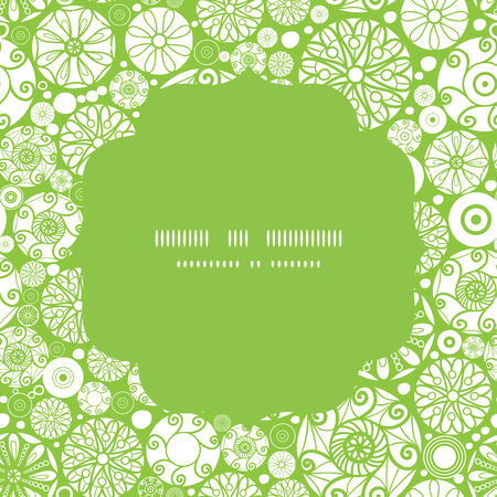 wheal: Vector abstract green and white circles circle frame seamless pattern background