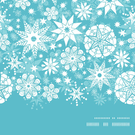 Vector decorative frost Christmas snowflake silhouette pattern frame card template Vector