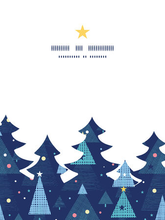 Vector abstract holiday christmas trees Christmas tree silhouette pattern frame card template
