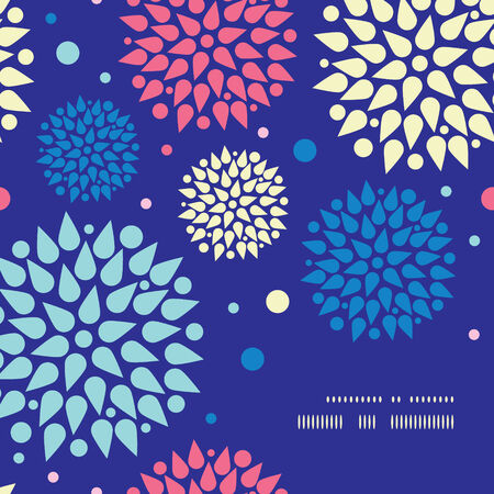Vector colorful bursts frame corner pattern background Vector