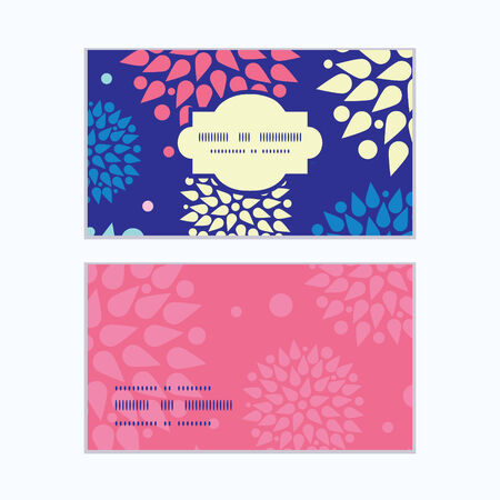 Vector colorful bursts horizontal frame pattern business cards set Vector