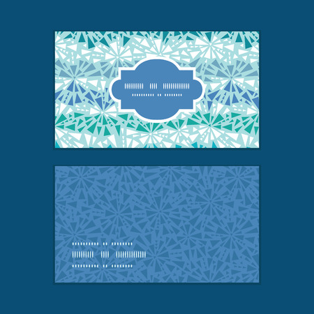 chrystals: Vector abstract ice chrystals texture horizontal frame pattern business cards set