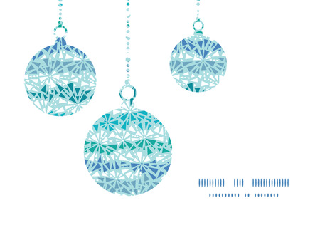 chrystals: Vector abstract ice chrystals texture Christmas ornaments silhouettes pattern frame card template