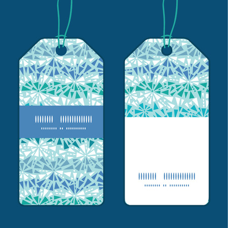 chrystals: Vector abstract ice chrystals texture vertical stripe frame pattern tags set