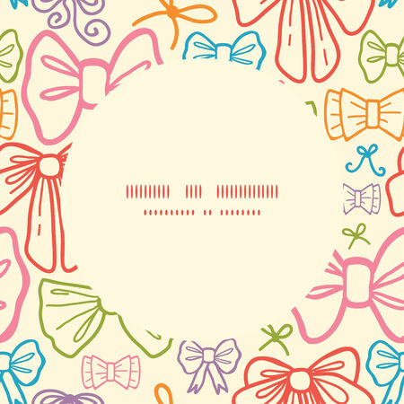 Vector colorful bows frame seamless pattern background Vector