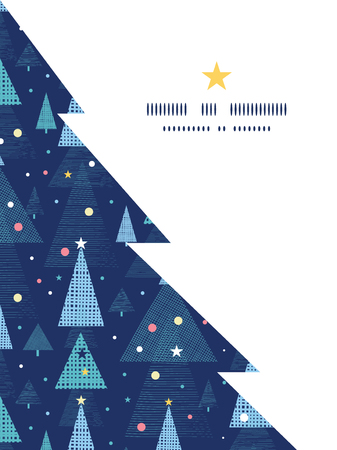 greeting: Vector abstract holiday christmas trees Christmas tree silhouette pattern frame card template