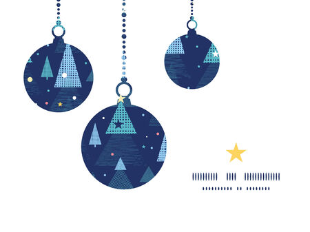 Vector abstract holiday christmas trees Christmas ornaments silhouettes pattern frame card template Vector