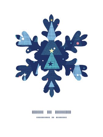 Vector abstract holiday christmas trees Christmas snowflake silhouette pattern frame card template Vector