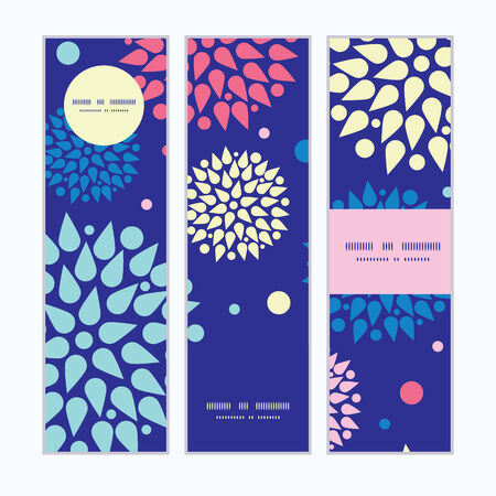 Vector colorful bursts vertical banners set pattern background Vector