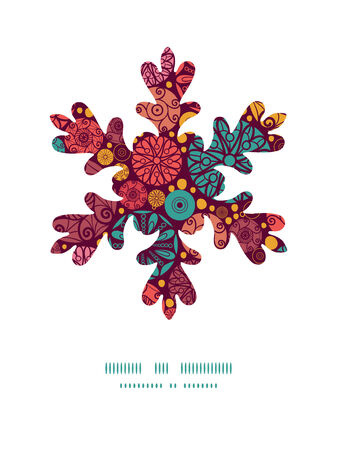 wheal: Vector abstract decorative circles Christmas snowflake silhouette pattern frame card template