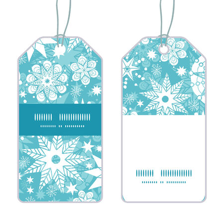 Vector decorative frost Christmas snowflake silhouette pattern frame card template