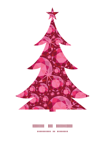ruby: Vector ruby Christmas tree silhouette pattern frame card template
