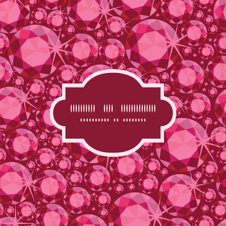 ruby: Vector ruby frame seamless pattern background Illustration