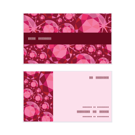 ruby: Vector ruby horizontal stripe frame pattern business cards set