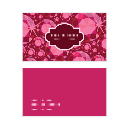 ruby: Vector ruby horizontal frame pattern business cards set Illustration