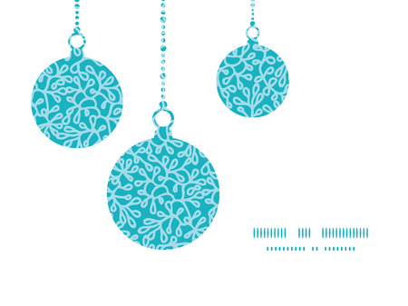 Vector abstract underwater plants Christmas ornaments silhouettes pattern frame card template Vector