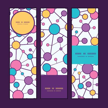 vector  molecular: Vector molecular structure vertical banners set pattern background Illustration