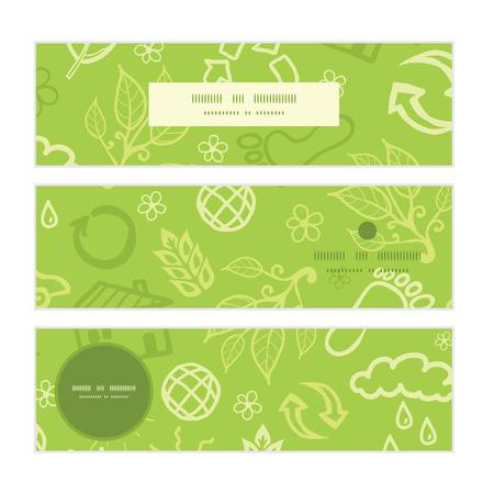 website header: Vector environmental horizontal banners set pattern background Illustration