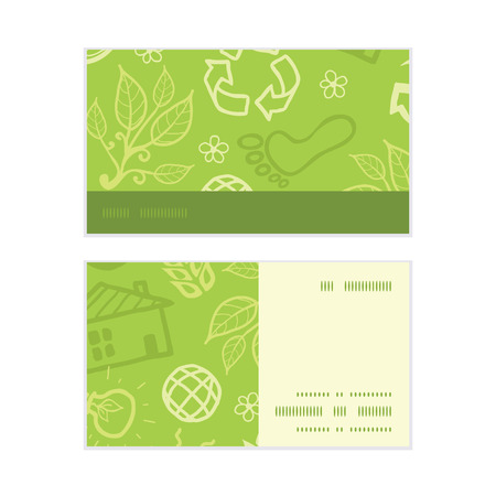 Vector environmental horizontal stripe frame pattern business cards set