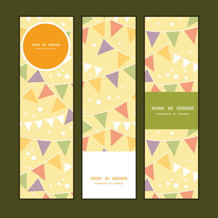 Vector party decorations bunting vertical banners set pattern background Vector